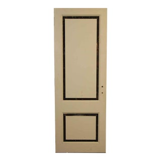 Cream and Black Two Panel Door