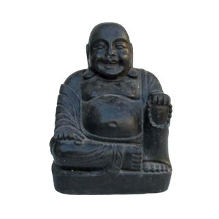 Chinese Hand Carved Happy Buddha Stone Statue