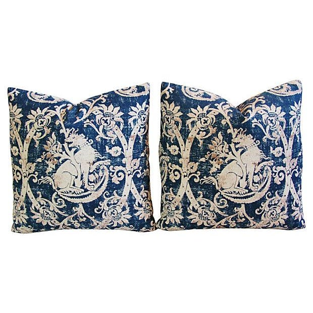 Custom French Mythological Medieval Pillows - Pair - Image 7 of 7