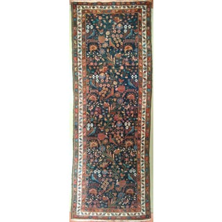 "Antique Persian Mehraban Rug - 3'4"" X 9'6"""