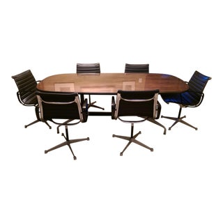 Eames Rosewood Conference Table & Chairs