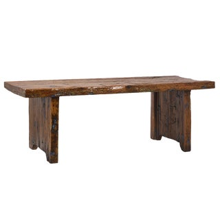 Reclaimed Wood Slab Table