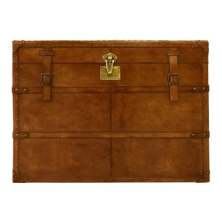 Leather Rectangle Side Storage Trunk