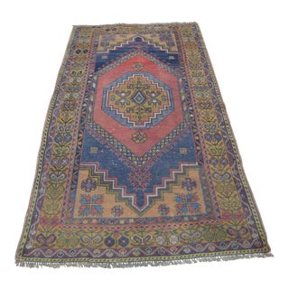 Turkish Oushak Carpet - 3′10″ × 7′