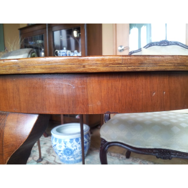 Image of 19th Century Cherry Wood Demilune Table