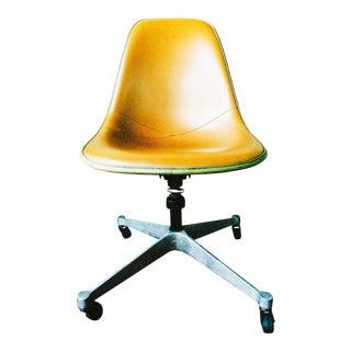 Herman Miller Upholstered Fiberglass Shell Chair