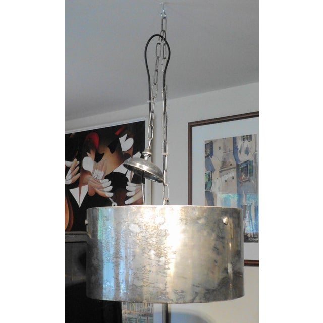 Vintage Industrial Steel Drum Shaped Pendant Light