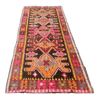 "Vintage Turkish Kilim Runner - 4'6"" x 11'9"""