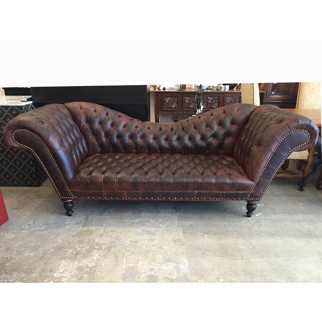 Custom Chesterfield Italian Leather Sofa