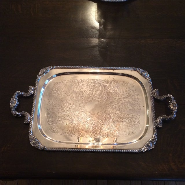 Silverplate Serving Tray - Image 2 of 11