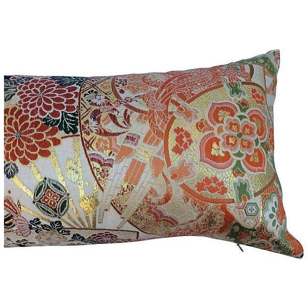 Japanese Obi Silk Metallic Pillow - Image 5 of 6