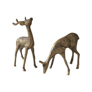 Brass Deer - A Pair