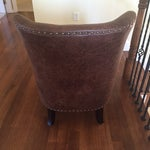 Image of Brown Leather Studded Chair