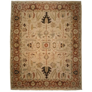 "Persian Heriz Wool Area Rug - 8' 2"" X 10' 5"""