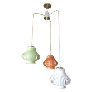 Italian Vintage Three Lights Pendant Lamp