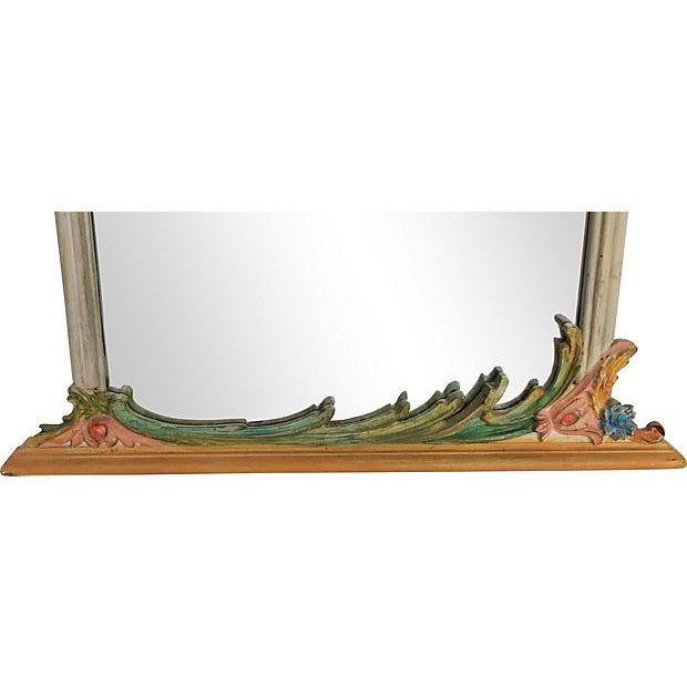 Hand-Painted Italian Mirrors - Pair - Image 9 of 9