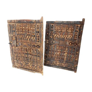 African Dogon Granary Doors - A Pair