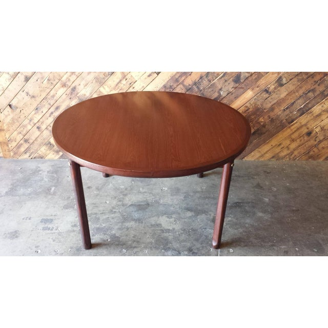 Mid-Century Solid Rose Wood Dining Table - Image 4 of 6