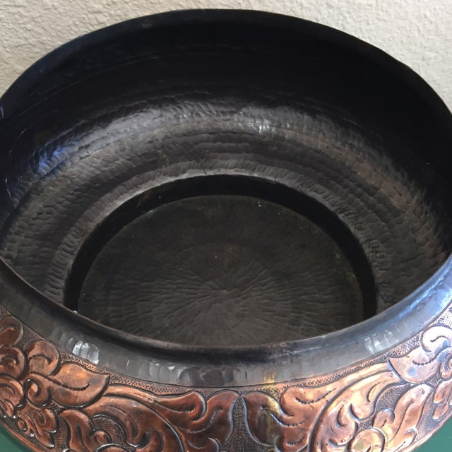 Image of Vintage Hammered Bronze and Copper Vessel