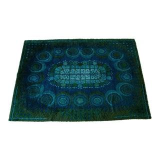 Large Scandinavian Rya Area Rug