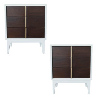 American of Martinsville Lacquered Nightstands- A Pair