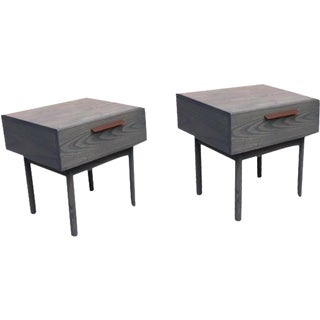 Blue Dot Shale Nightstands or Side Tables - A Pair