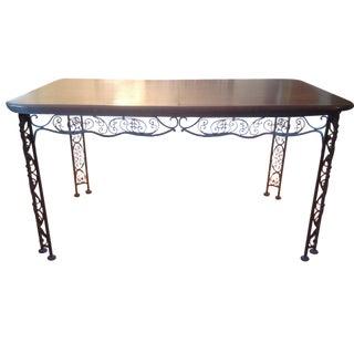 Woodard Wrought Iron & Cherry Dining Set - 5 Piece