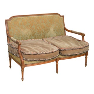 French Louis XVI Style Custom Settee Loveseat