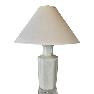 Italian Deco Ceramic & Acrylic Table Lamp