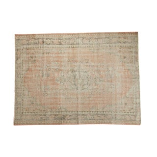"Vintage Distressed Oushak Carpet - 5'5"" X 7'2"""