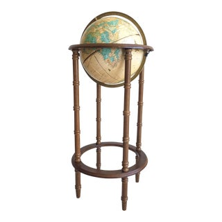 Floor-Standing Globe on Faux Bamboo Stand