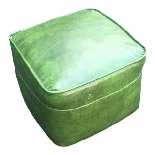 Mid-Century Green Footstool