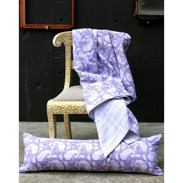 Purple Kantha Throw, Full Size - Image 3 of 3