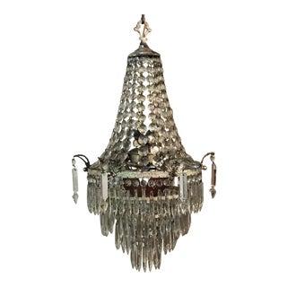 Antique Art Deco Crystal Wedding Tier Chandelier