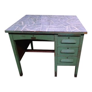 Antique Teacher's Schoolhouse Desk