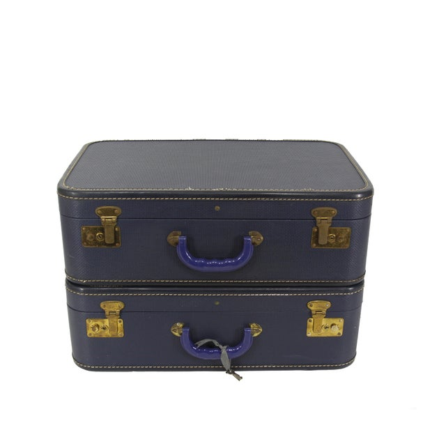Navy Luggage - Pair - Image 1 of 5