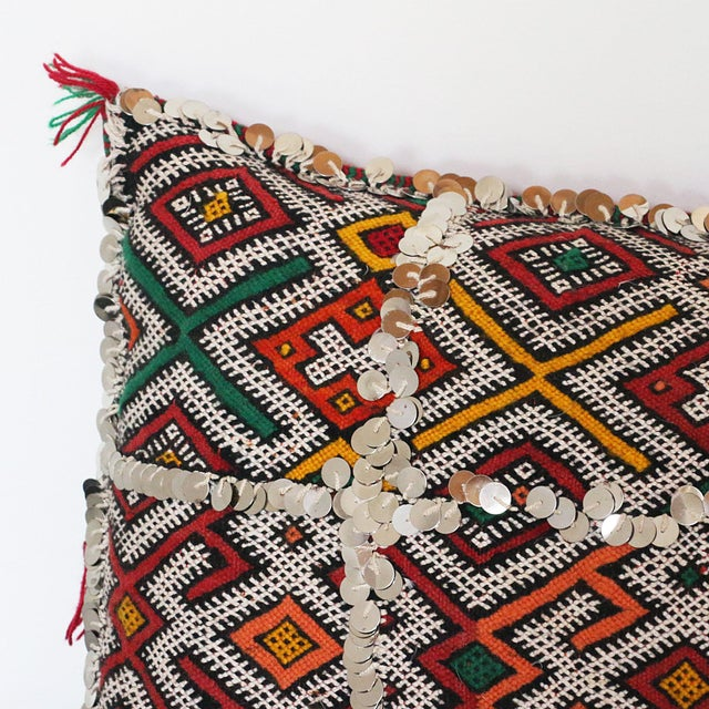 Handcrafted Moroccan Kilim Pillow I - Image 6 of 7