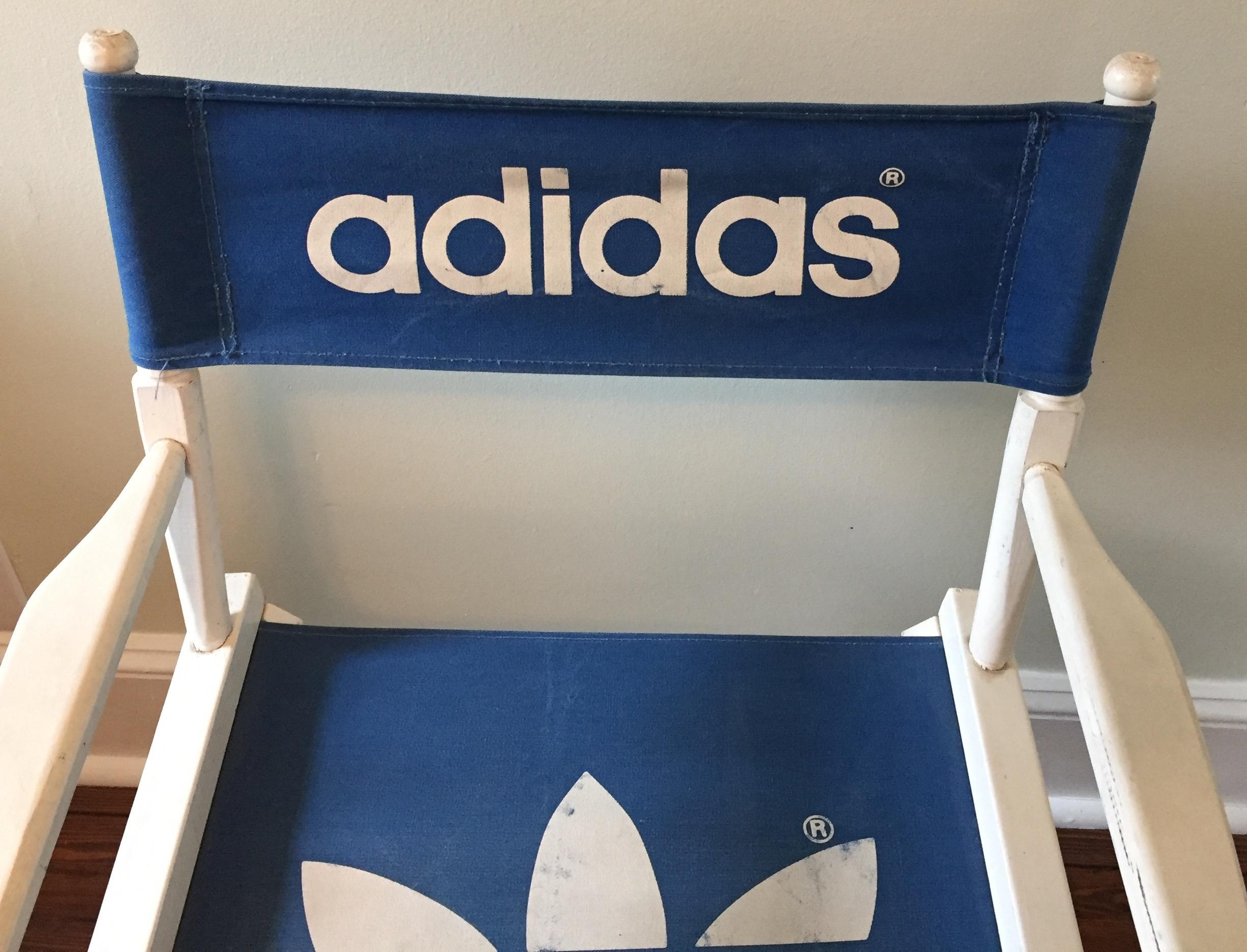 1980 S Adidas Trefoil Logo Director S Chairs A Pair