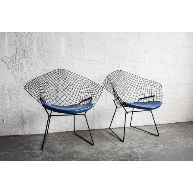 Knoll Bertoia Black Diamond Chairs- Pair - Image 6 of 7
