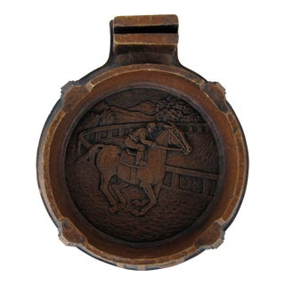 Vintage Horse Racing Ashtray