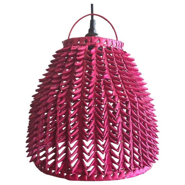 Fuchsia Basket Pendant Lamps - A Pair - Image 1 of 4
