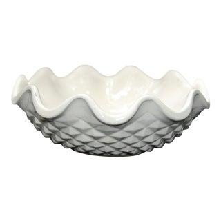 Vintage White Diamond Patterned Bowl