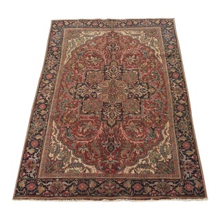 "Thick & Hearty Vintage Persian Ahar Area Rug - 7'3"" x 10'5"""