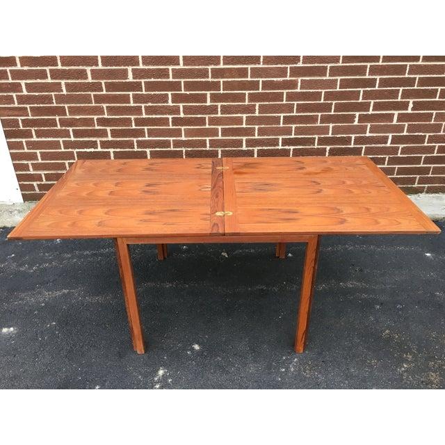 Vintage Danish Modern Extension Teak Table - Image 6 of 7