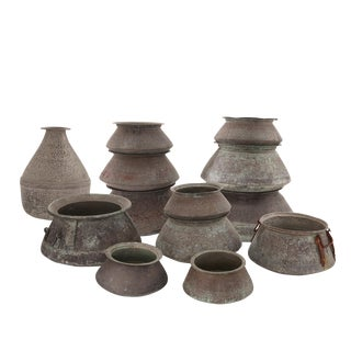15 Massive Copper Pots or Vessels from Saudi Arabia