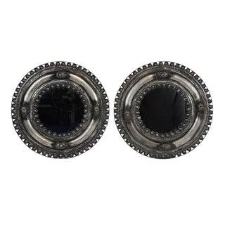 Pressed Metal Mirrors - A Pair