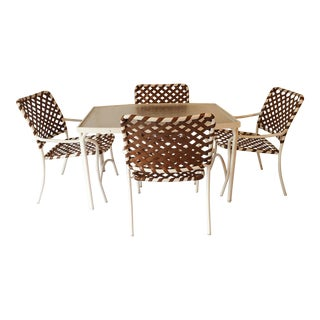 Tropitone Brown & White Outdoor Patio Set - Set of 5
