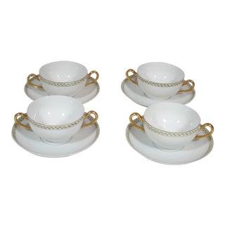 Bullion Cups & Saucers - Set of 4