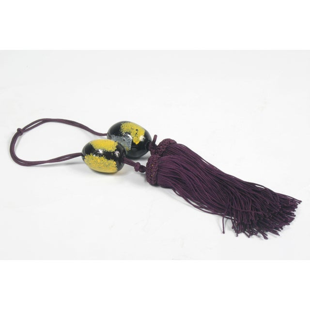 Image of Chinese Wine and Yellow Tassels - A Pair
