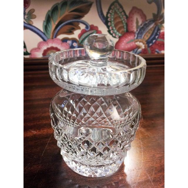 Image of Waterford Comeragh Cut Crystal Honey Jar & Lid